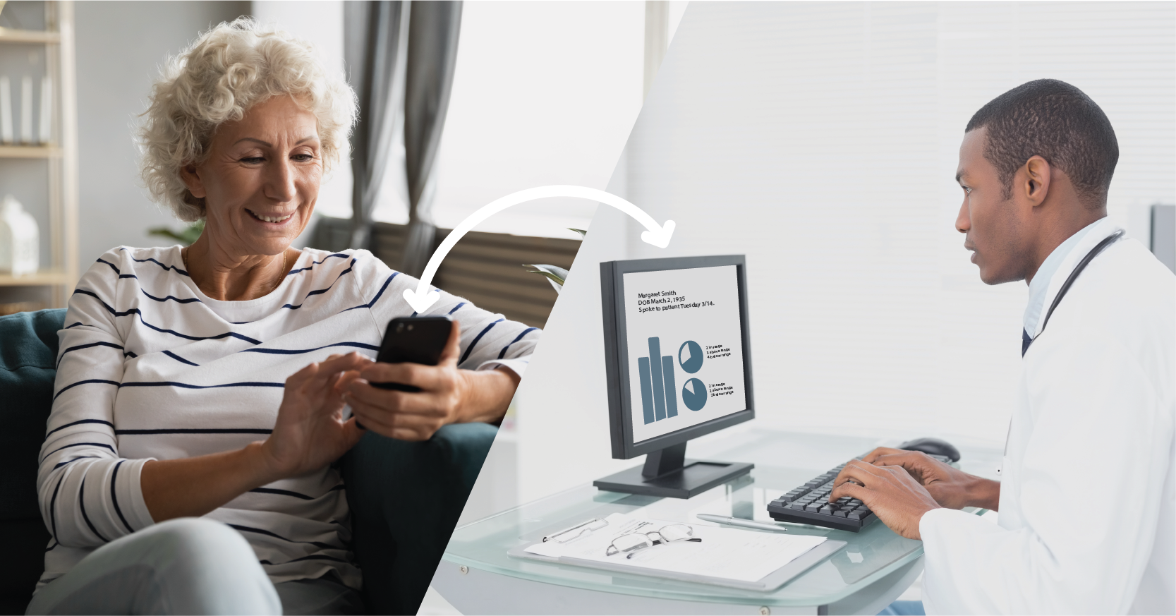 Remote Patient Monitoring - doctor and patient sharing data